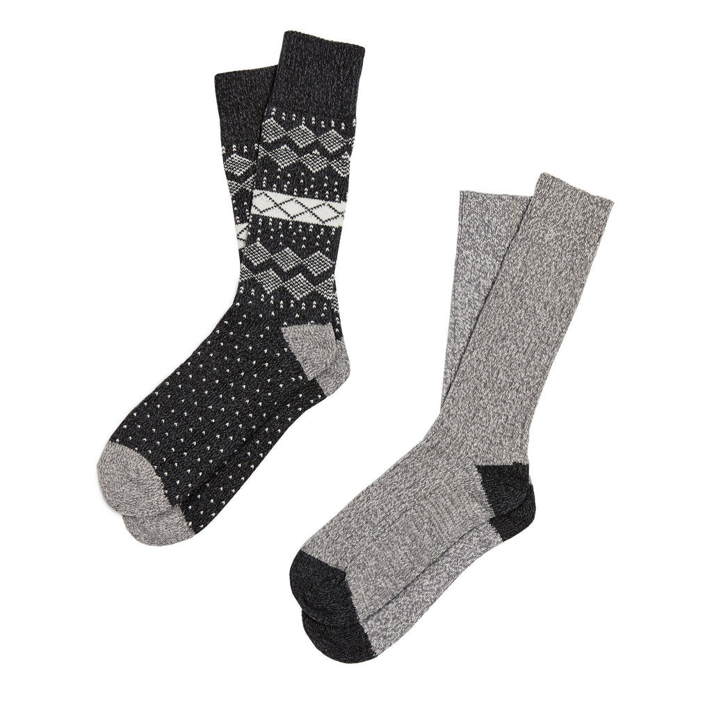 Mens Nordic Diamonds Crew Sock 2Pk