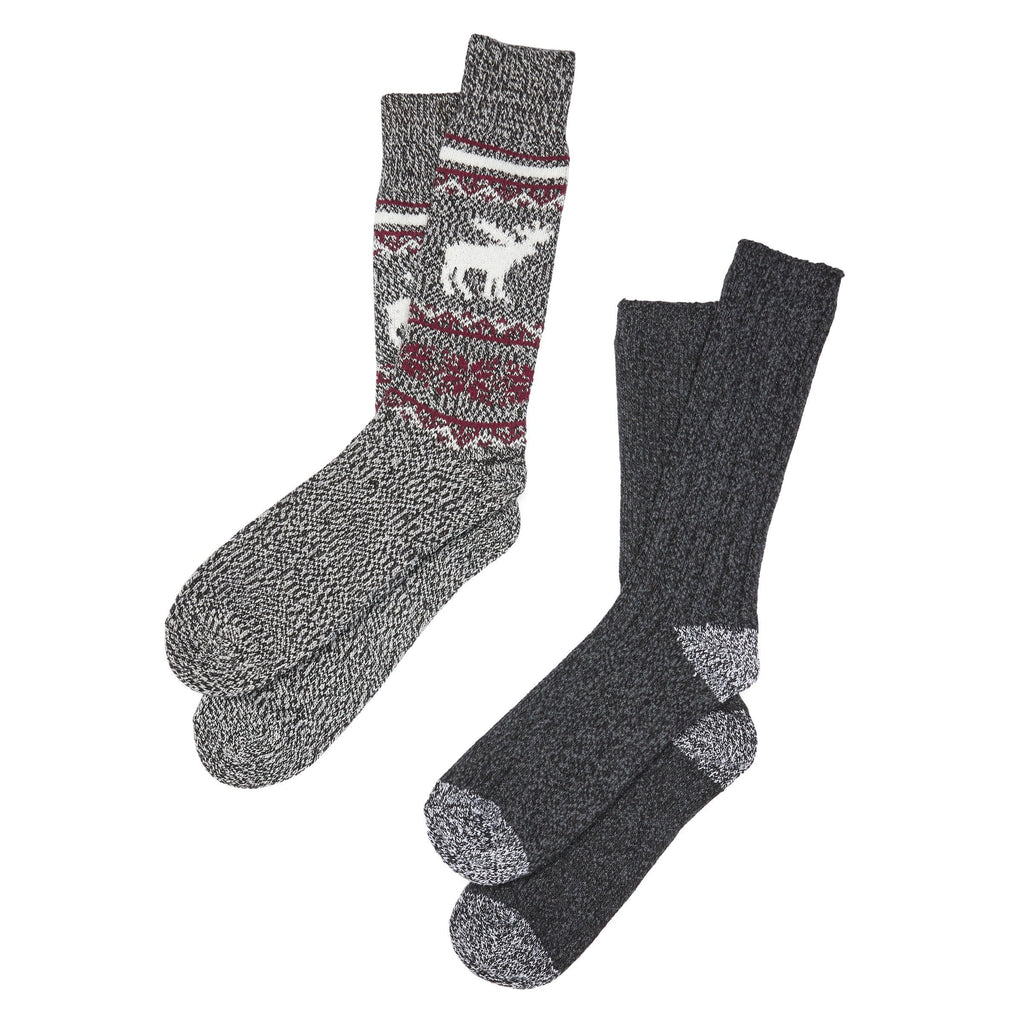 Mens Moose Crew Sock 2Pk