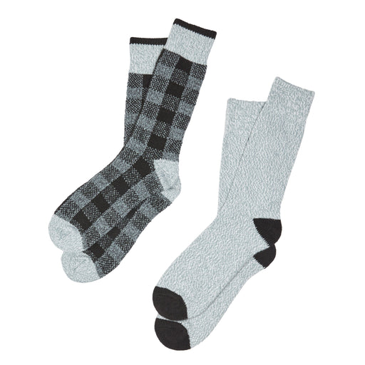 Mens Buffalo Check Twist Stripe Crew Sock 2Pk