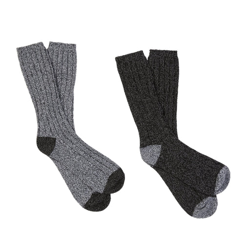 Mens Twist Rib Crew Sock 2Pk