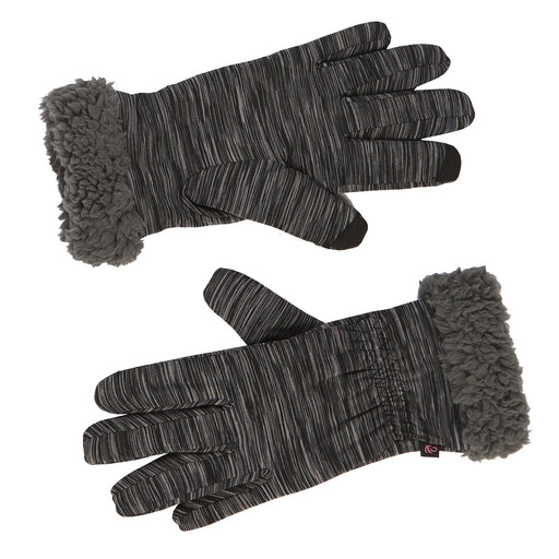 Cinched Wrist Flex Fit Glove With Faux Fur Cuff