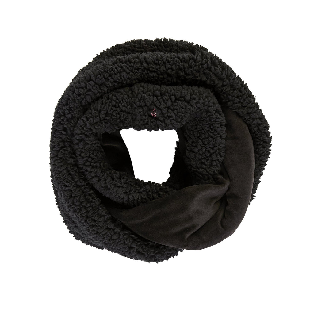 Velour And Faux Sherpa Infinity Scarf