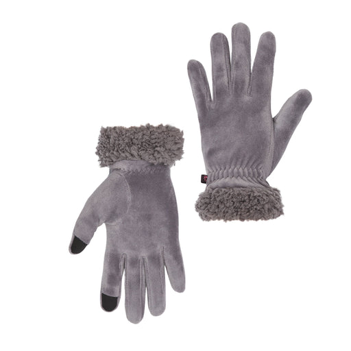 Velour Glove With Faux Sherpa Cuff