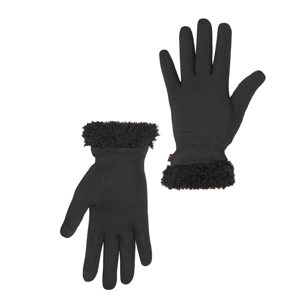 Cinched Wrist Stretch Lined Glove With Cuff