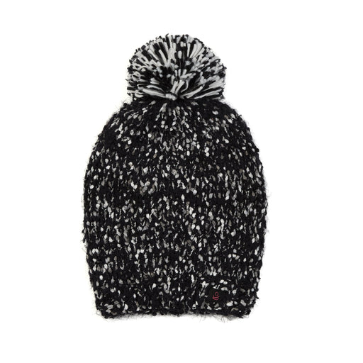 Plush Knit Hat With Pom