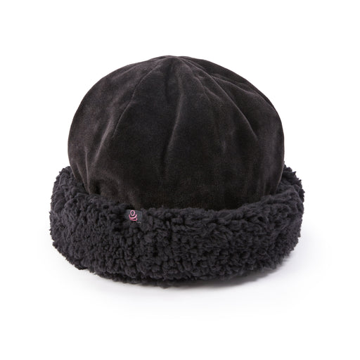 Reversible Velour Hat With Sherpa Cuff