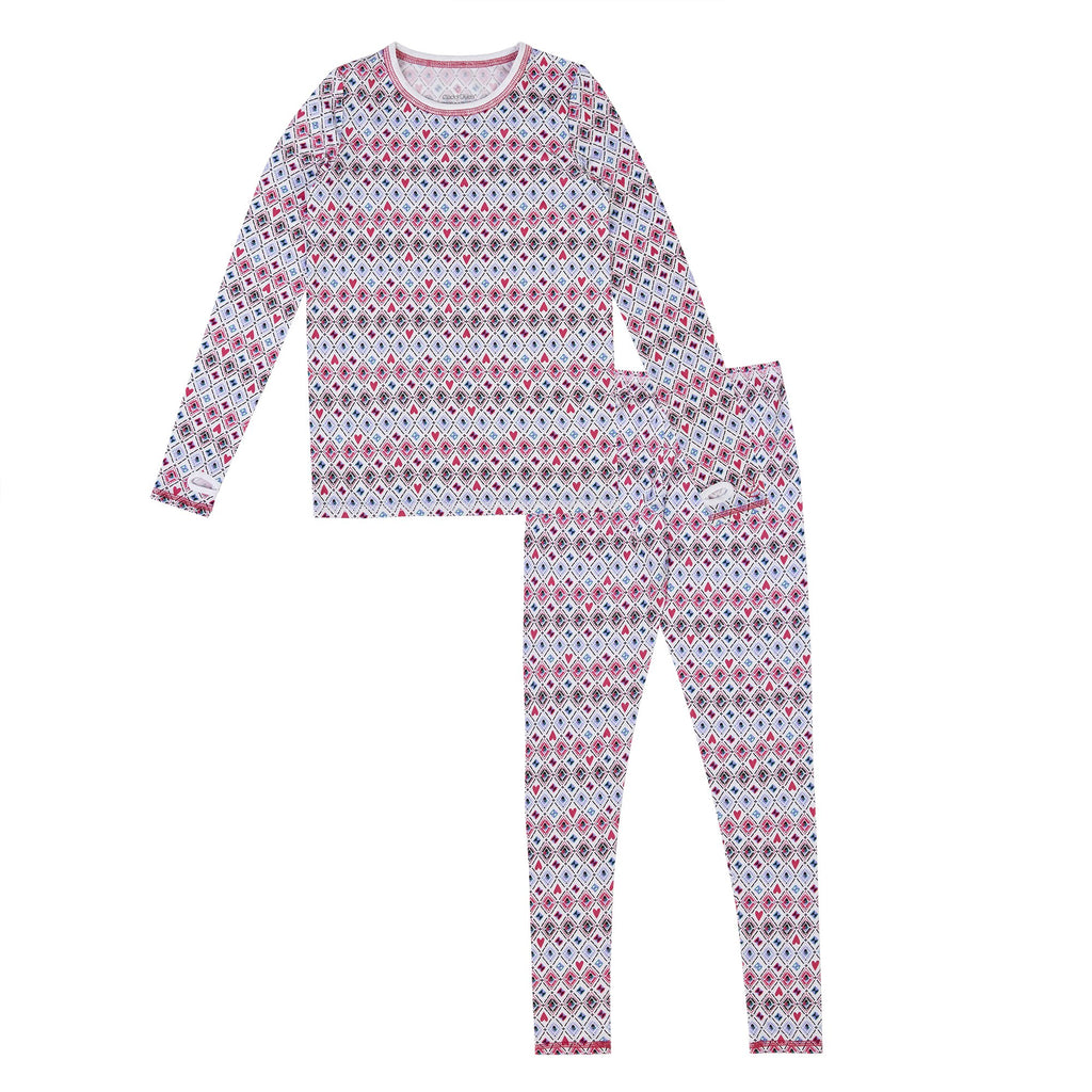 Girls Comfortech Poly 2 pc Long Sleeve Crew Set