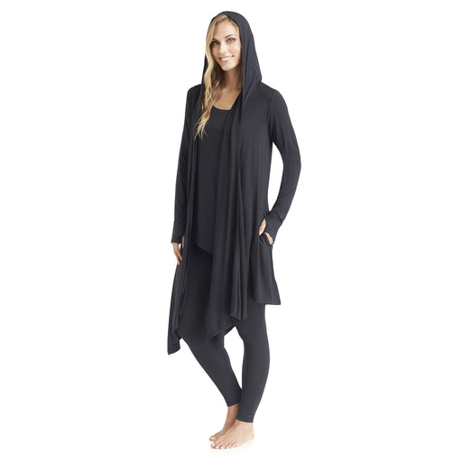 Softwear With Stretch Long Sleeve Hooded Wrap