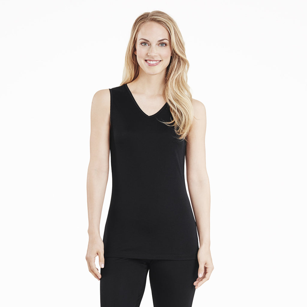 Softwear Lace Edge V-Neck Tank
