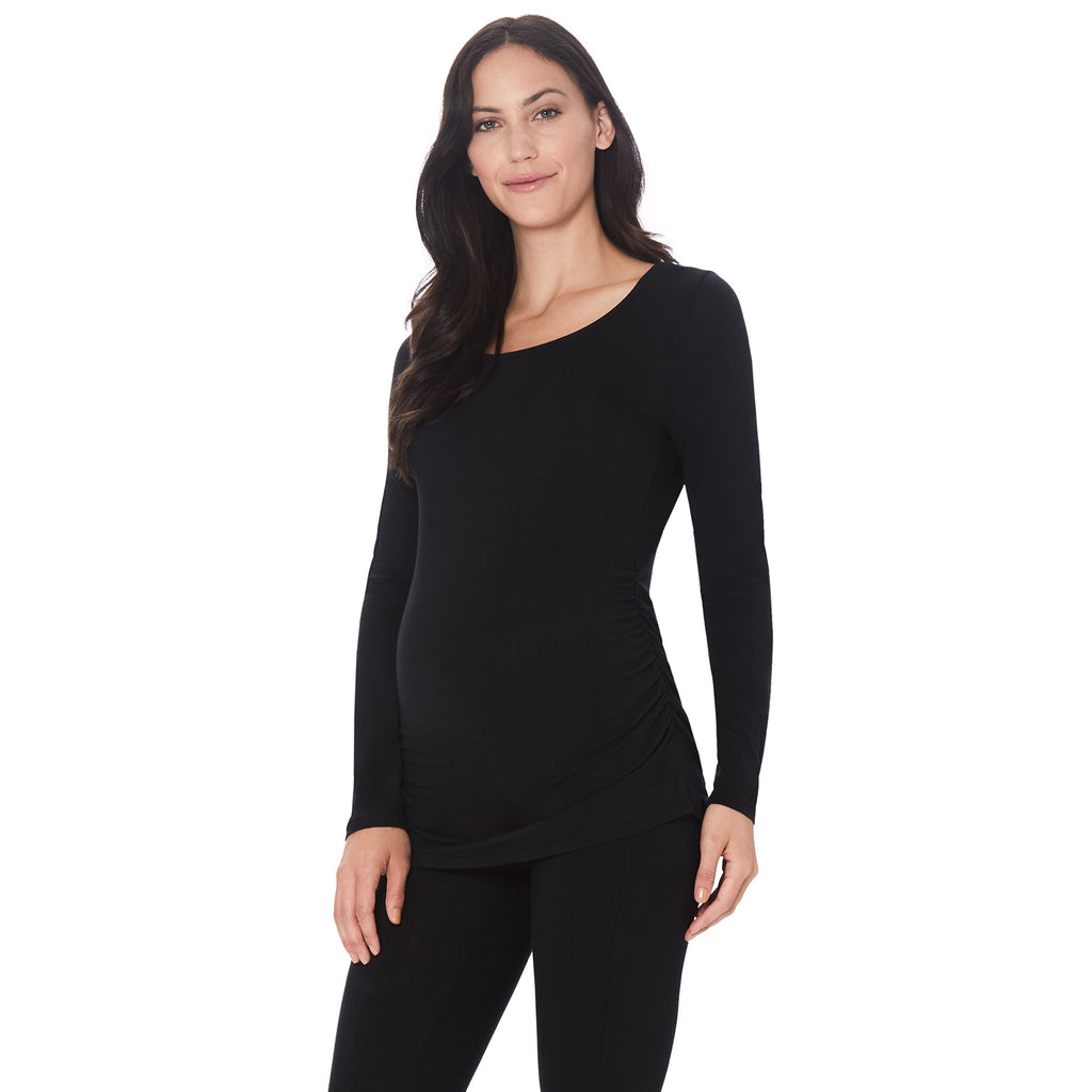 Softwear with Stretch Maternity Ballet Neck Top
