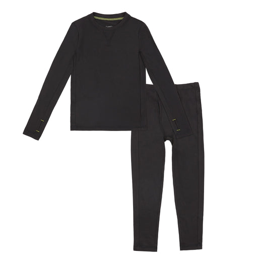 Boys Comfortech Stretch Poly 2 pc. Long Sleeve Crew & Pant Set