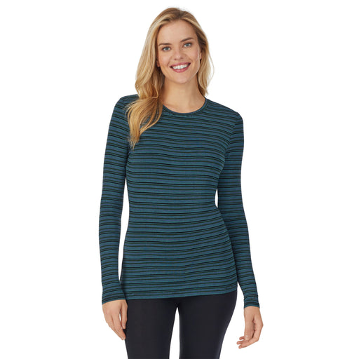 "Cool Stripe;Model is wearing size S. She is 5'10"", Bust 34"", Waist 26"