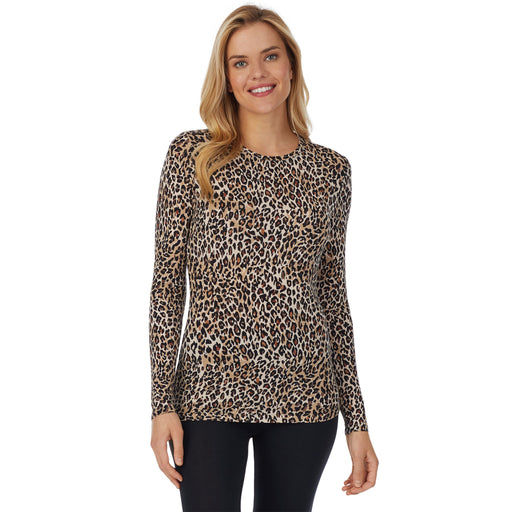 "Cheetah;Model is wearing size S. She is 5'10"", Bust 34"", Waist 26"