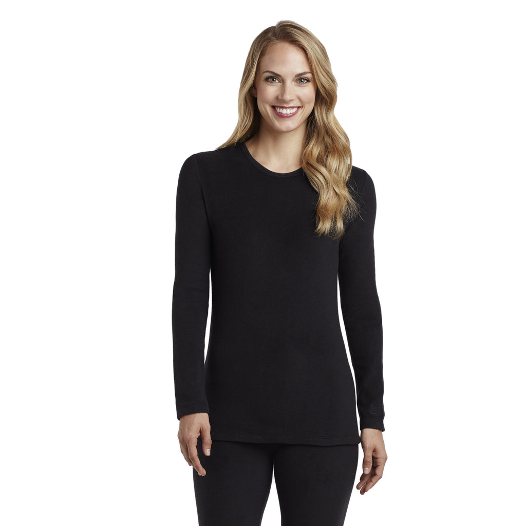 Fleecewear With Stretch Long Sleeve Crew