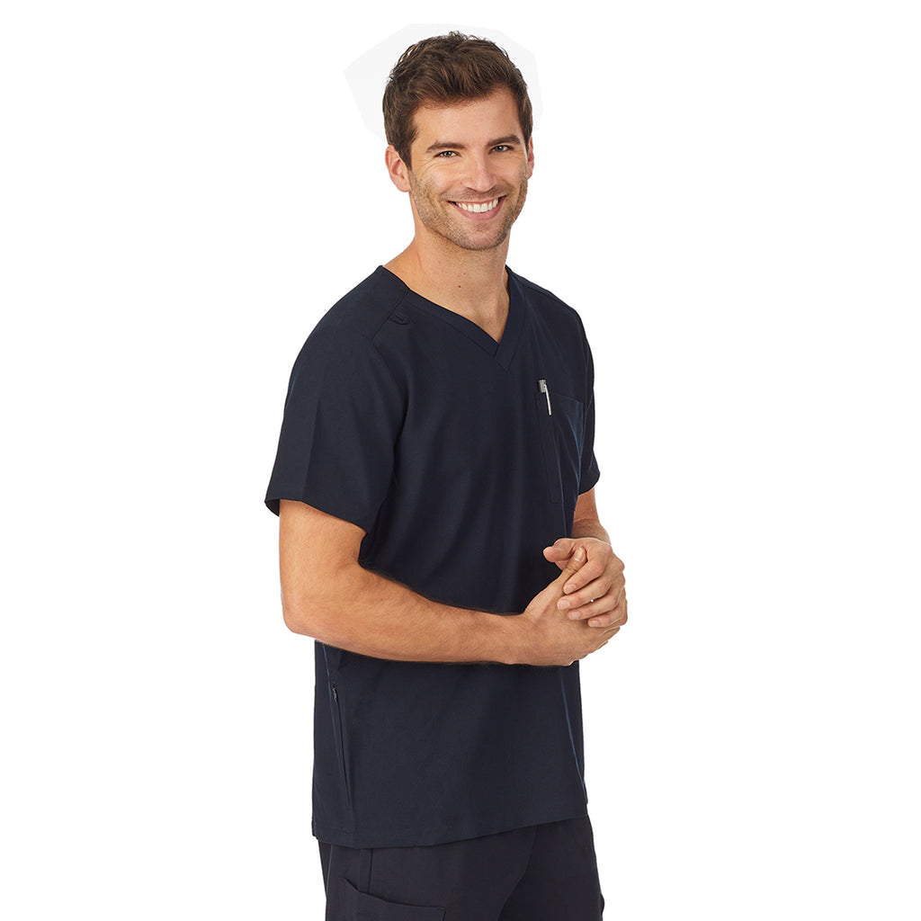Mens Scrub V-Neck Top with Pockets