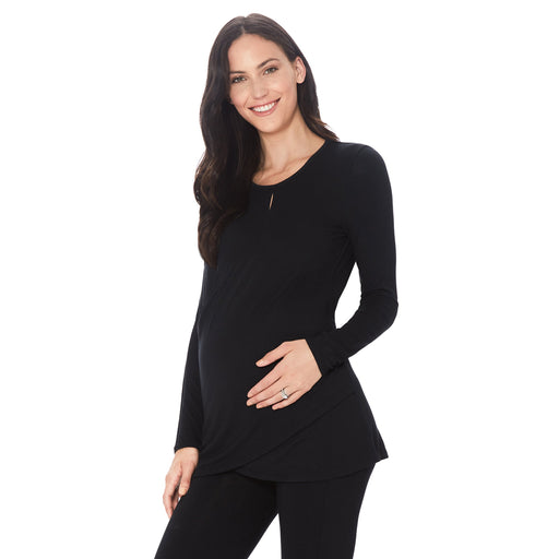 Softwear with Stretch Maternity Wrap Front Top