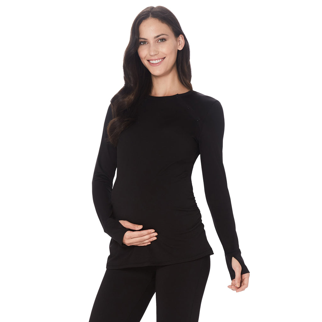 ThermaWear Maternity Snap Front Crew