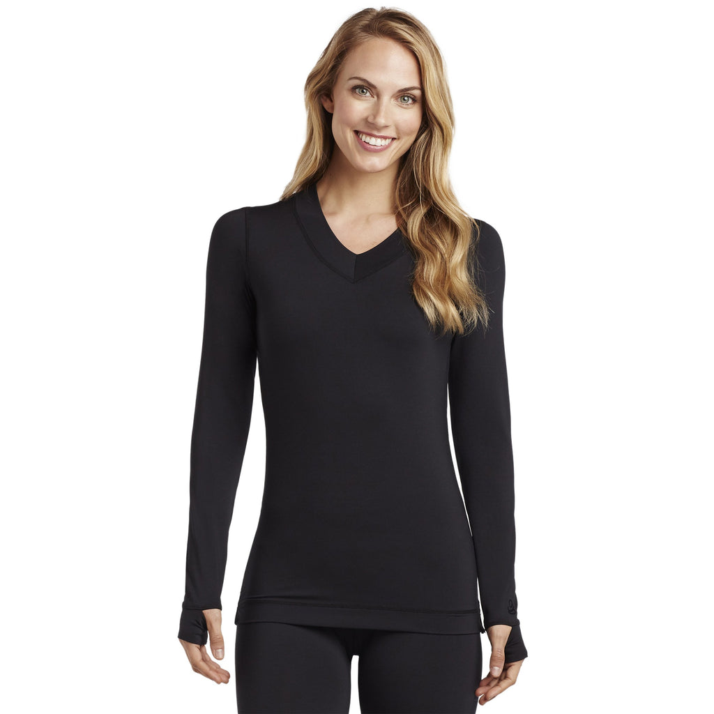 FlexFit Long Sleeve V-Neck