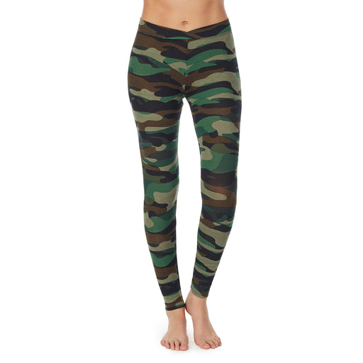 Green Camo;Model is wearing size S.She is 5'9