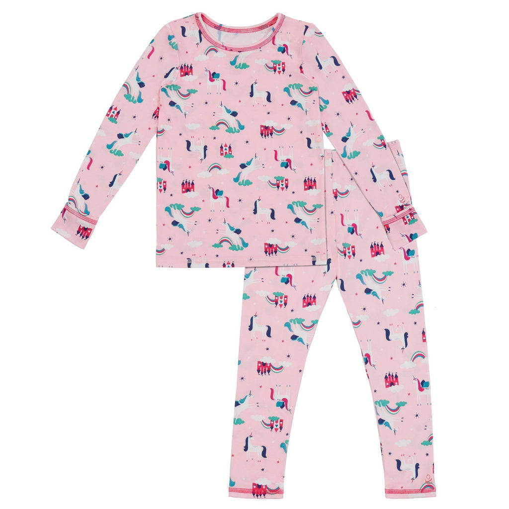 Toddler Girls Comfortech Stretch Poly 2 pc. Long Sleeve Crew & Legging Set