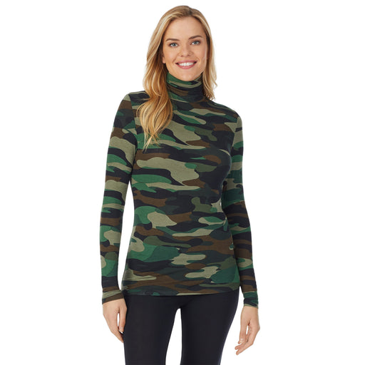 "Green Camo;Model is wearing size S. She is 5'10"", Bust 34"", Waist 26"
