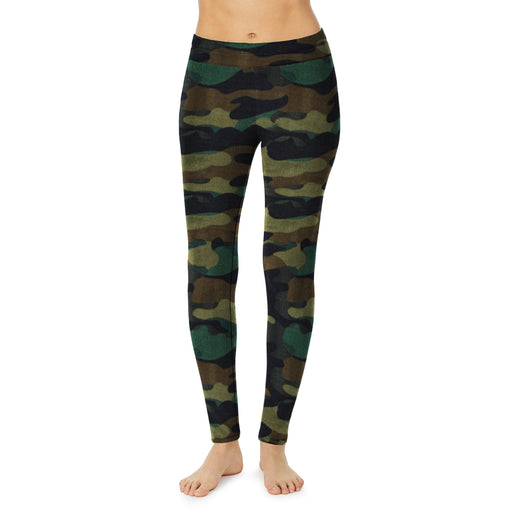 "Green Camo;Model is wearing size S. She is 5'9"", Bust 32"", Waist 25"", Hips 35""."