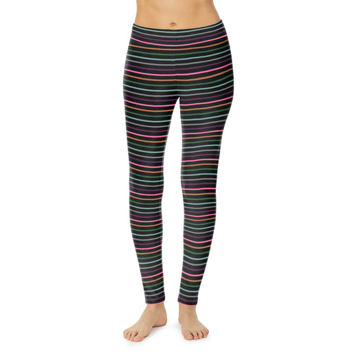 "Bright Multi Stripe;Model is wearing size S. She is 5'9"", Bust 32"", Waist 25"", Hips 35""."