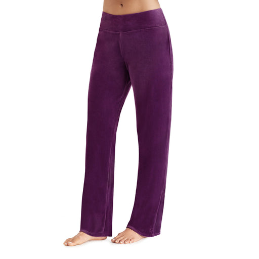 Boysenberry Purple;Model is wearing size S.She is 5'9