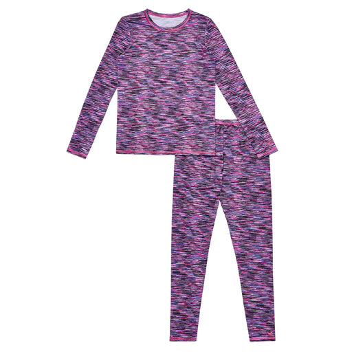 Girls Comfortech Stretch Poly 2 pc. Long Sleeve Crew & Legging Set