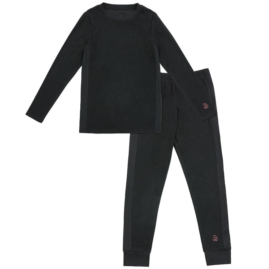 Girls Fleece 2 pc. Long Sleeve Crew & Legging Set