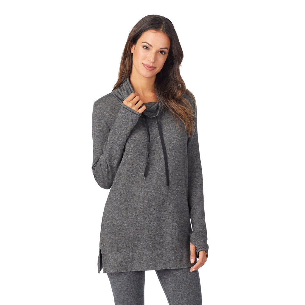 Ultra Cozy Long Sleeve Cowl Neck Tunic