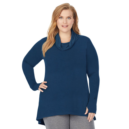 Peacock Blue  ;Model is wearing size 1x. She is 5'9