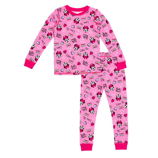 Minnie Mouse Toddler Girls Thermal 2 pc. Long Sleeve Crew & Legging Set