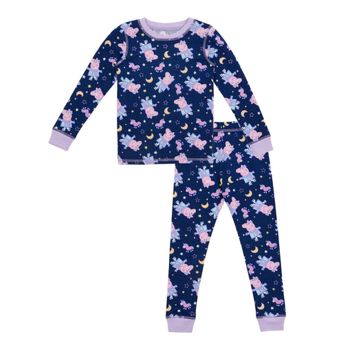 Peppa Pig Toddler Girls Thermal 2 pc. Long Sleeve Crew & Legging Set