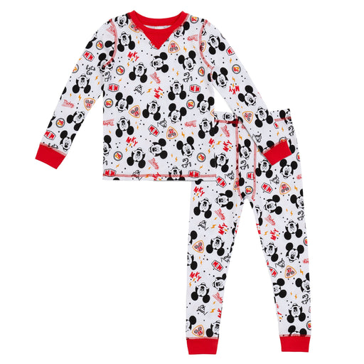 Mickey Mouse Toddler Boys Thermal 2 pc. Long Sleeve Crew & Pant Set