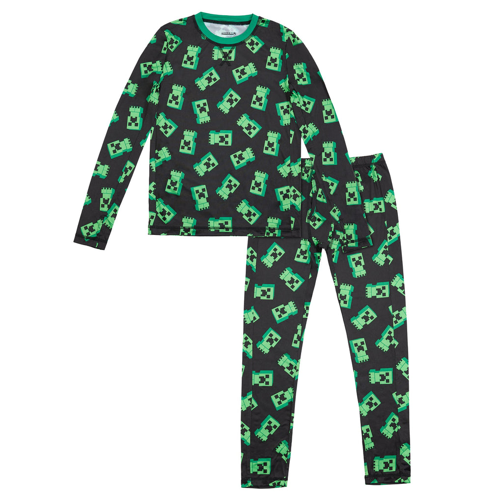 Mincecraft Boys Stretch Poly 2 pc. Long Sleeve Crew & Pant Set