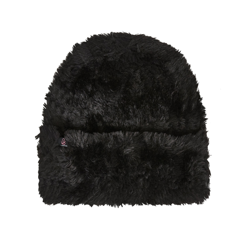 Knit Furry Yarn Cuff Hat