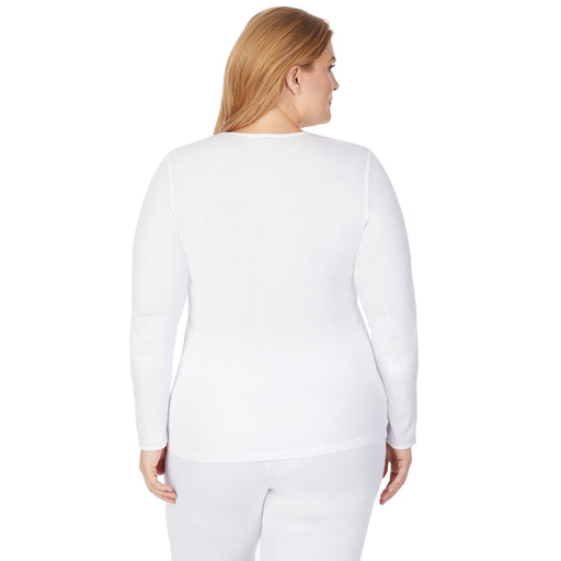 White;Model is wearing size 1x. She is 5'9