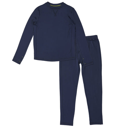 Boys Comfortech Poly 2 pc Long Sleeve Crew & Pant - Set