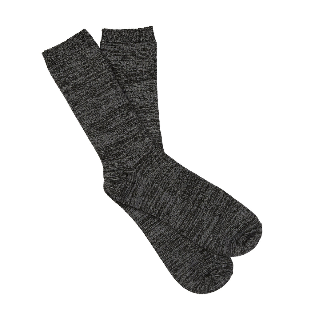 Midweight Spacedye Rib Crew Socks
