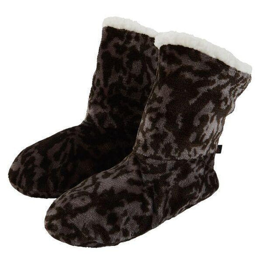 Printed Flannel Fleece Slipper Boot