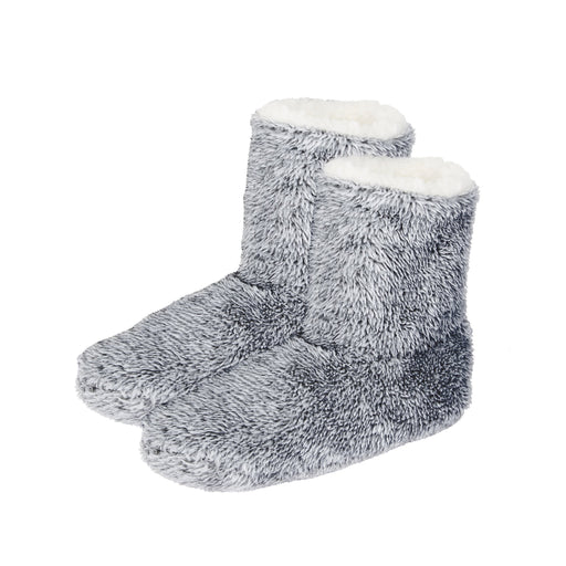 Heather Plush Cozy Sherpa Slipper Boot
