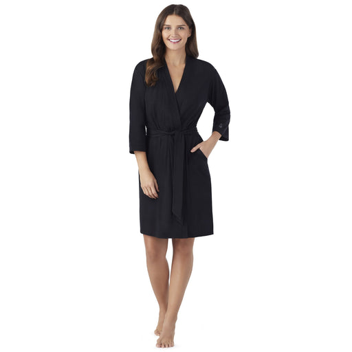 Women's Plus Size Essential 3/4 sleeve Robe