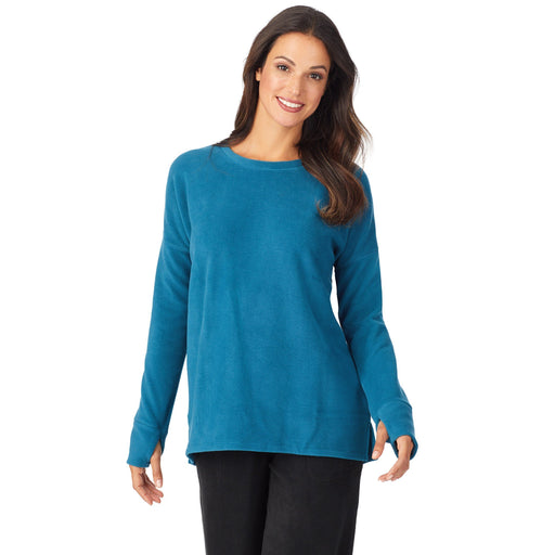 Fleecewear With Stretch Lounge Long Sleeve Pullover