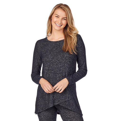 SoftKnit Long Sleeve Crossover Tunic