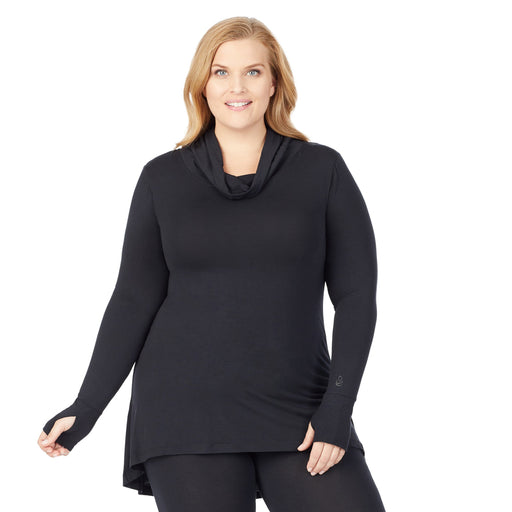 Softwear With Stretch Long Sleeve Cowl Tunic PLUS
