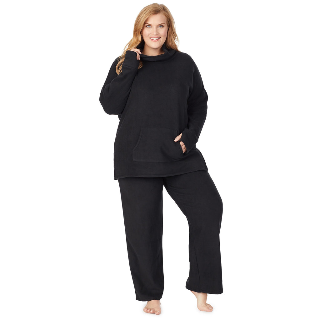 Fleecewear With Stretch Lounge Long Sleeve Tunic PLUS