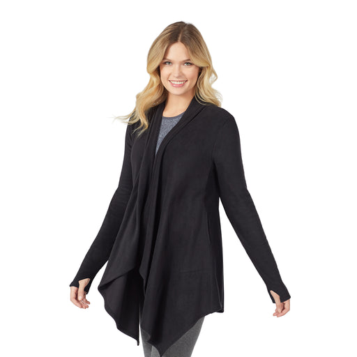 Fleecewear With Stretch Long Sleeve Wrap