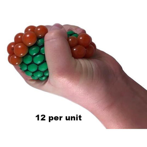 Mesh squeezable stress ball