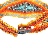 Bracelet Amantani orange et bronze